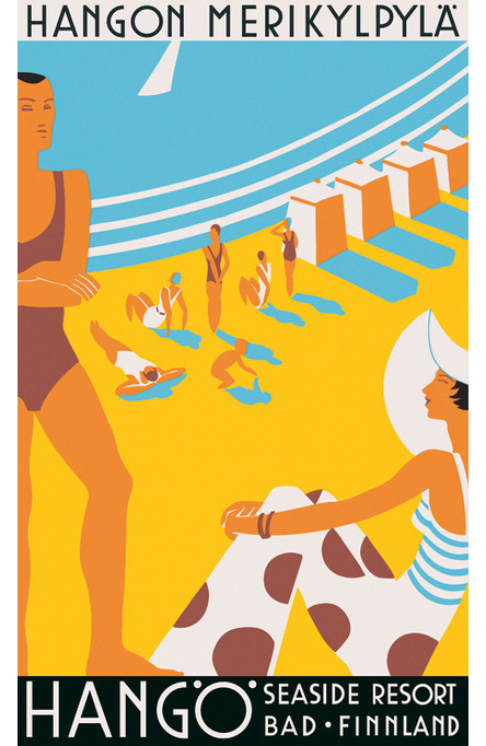 Hanko-Hangö Seaside Resort, Original size poster