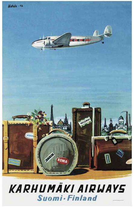 Karhumäki Airways, Original size poster