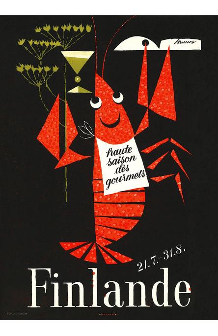 The Crayfish Season by Erik Bruun, Poster 50 x 70 cm