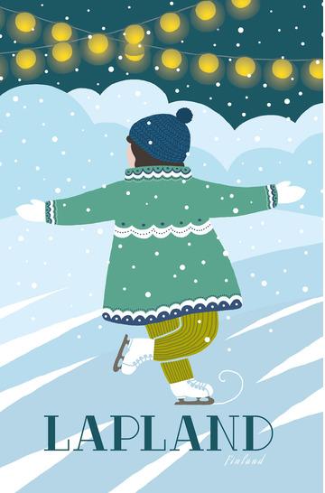 Lapland skater by Emilia Alm