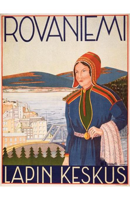 Rovaniemi by Yrjö Kari, Original size poster