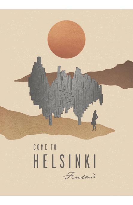 Modern Helsinki by Henna Gaus Poster 50×70