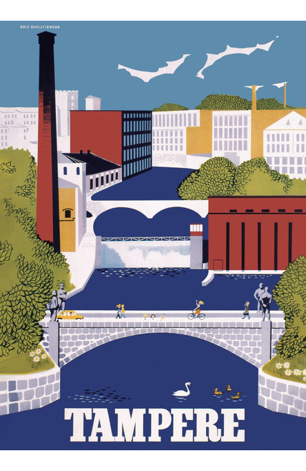 Tampere by Christianson, Poster 50 x 70 cm (on demand print)