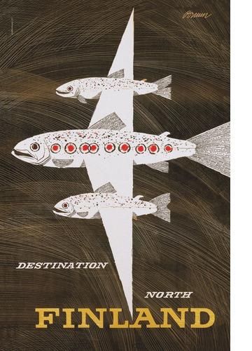 The Salmon Flight by Erik Bruun
