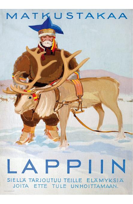 Matkustakaa Lappiin, Poster 50 x 70 cm (on demand print)