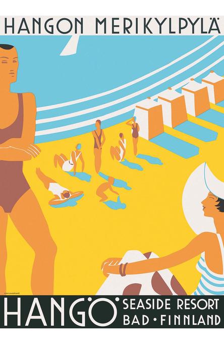 Hanko-Hangö Seaside Resort, Poster 50 x 70 cm (on demand print)