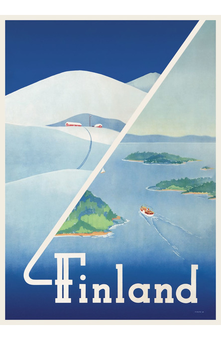 Finland: Winter-summer, Poster 50 x 70 cm (on demand print)