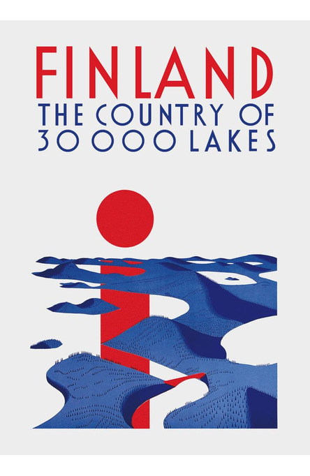 30 000 lakes, A4 size poster