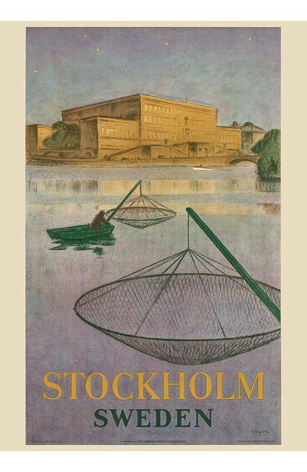 Fiskare på Stockholms ström, Affisch A4-storlek