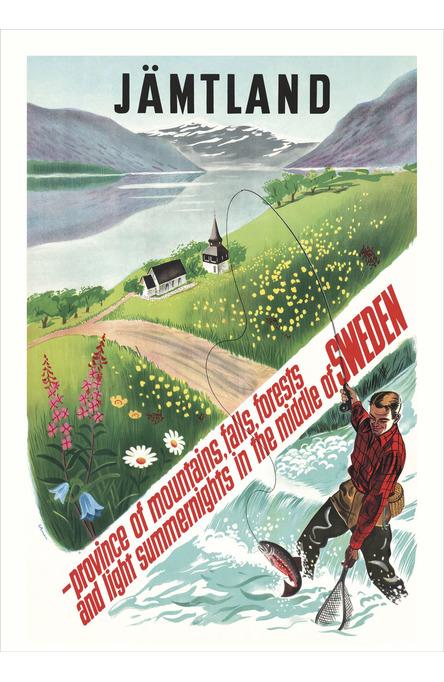 Fiskare i Jämtland, Affisch A4-storlek