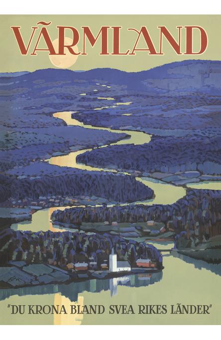 Värmland, A4 size poster