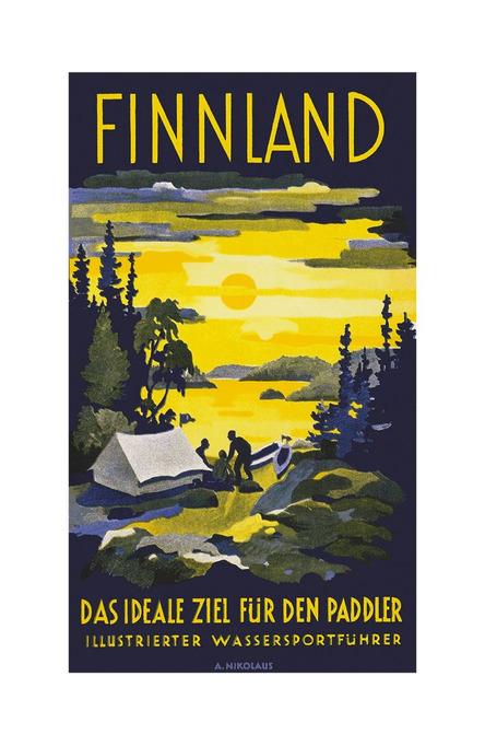 Finnland – das ideal ziel, A4 size poster