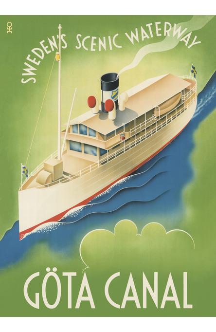 Göta Canal Waterway, Poster 50 x 70 cm