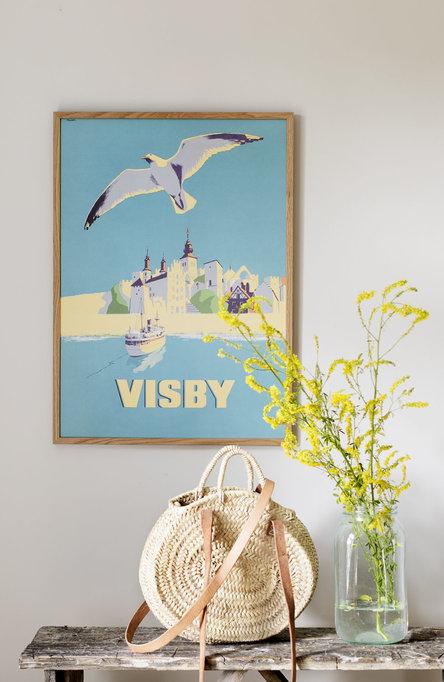 Visby från havet, Affisch 50 x 70cm