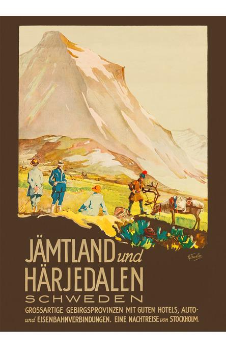 Jämtland und Härjedalen, Affisch A4-storlek