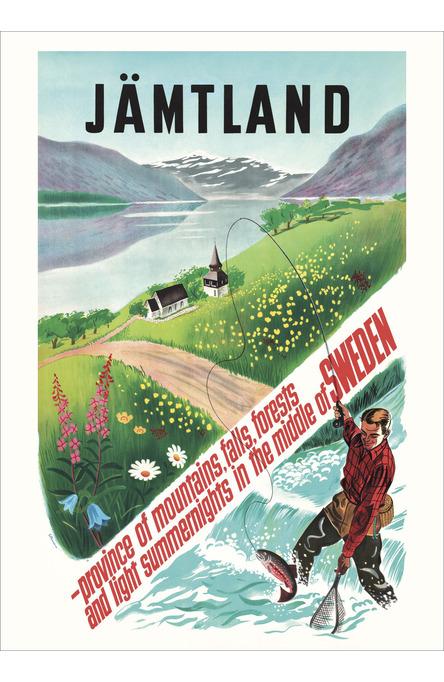 Fiskare i Jämtland, Affisch 50 x 70cm