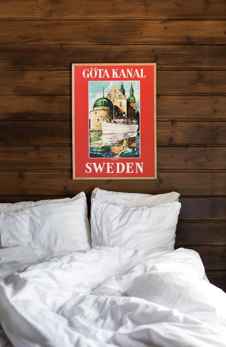 Göta Kanal Vadstena, Affisch 50 x 70cm