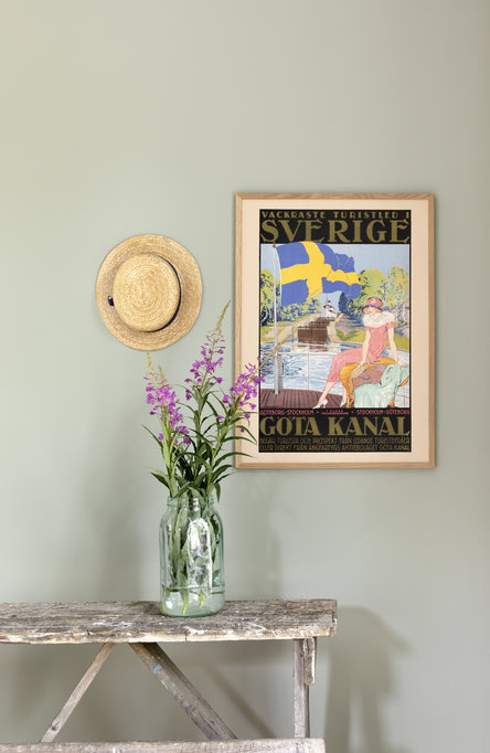 Göta Kanal, dam på däck, Affisch 50 x 70cm