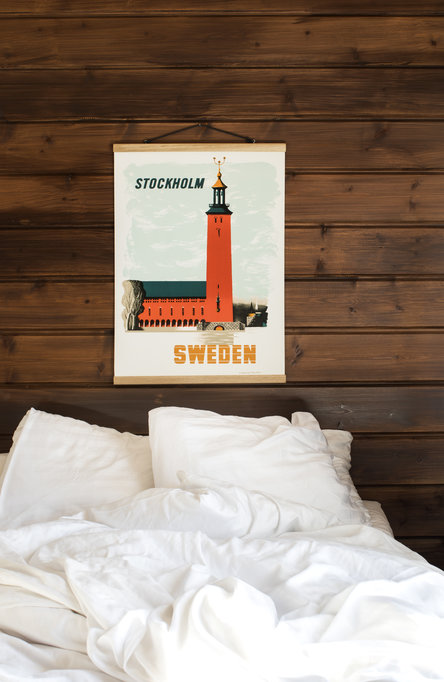 Kauffer: Stadshuset i Stockholm, Affisch 50 x 70cm