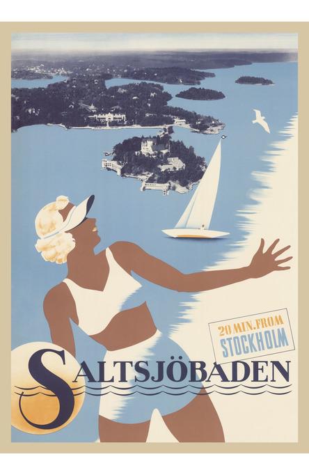 Saltsjöbaden, Poster 50 x 70 cm