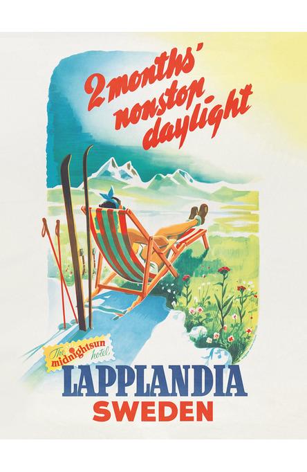 Lapplandia solstol, Affisch 30 x 40 cm