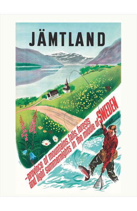 Fiskare i Jämtland, Affisch 30 x 40 cm
