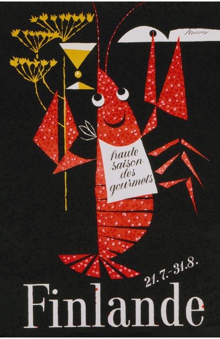 The Crayfish Season by Erik Bruun, Postcard