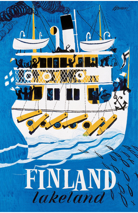 Lakeland by Erik Bruun, Postcard