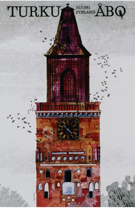 Turku-Åbo by Erik Bruun, Postcard