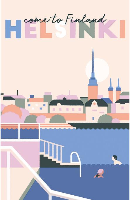 Come to Helsinki by Jolanda Kerttuli, postcard