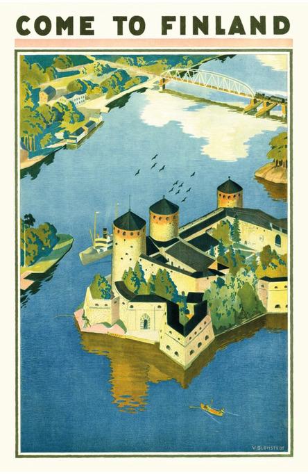 Come to Finland – Olavinlinna, Postcard