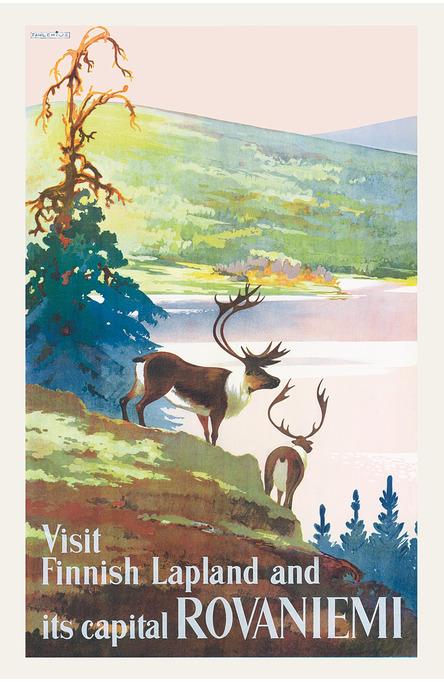 Visit Finnish Lapland, Postcard