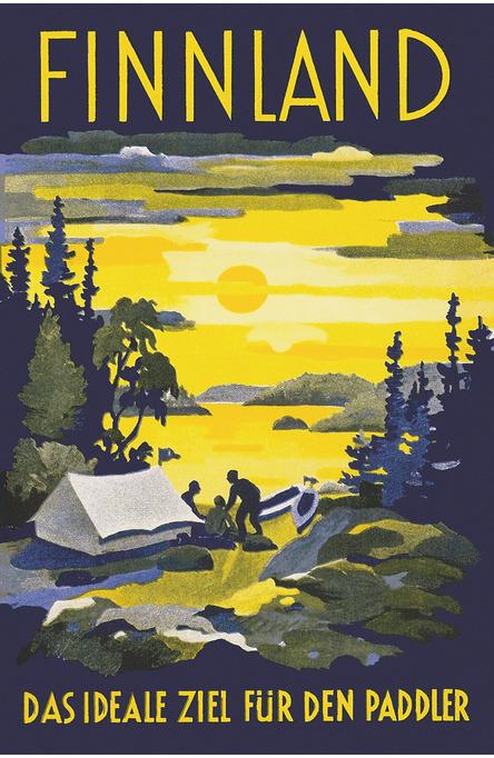 Finnland – das ideal ziel, Postcard