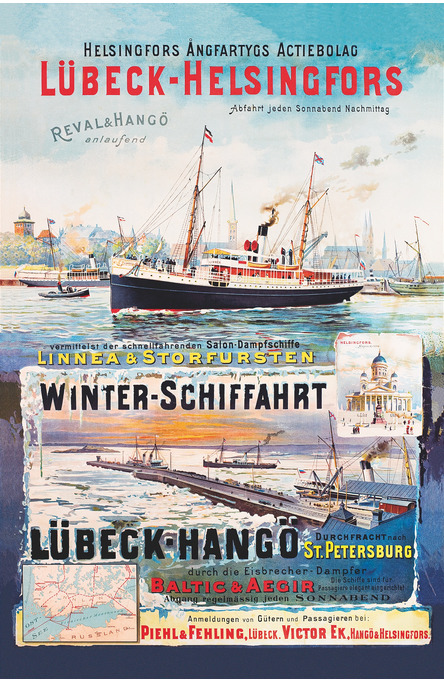 Lübeck-Helsingfors, Postcard