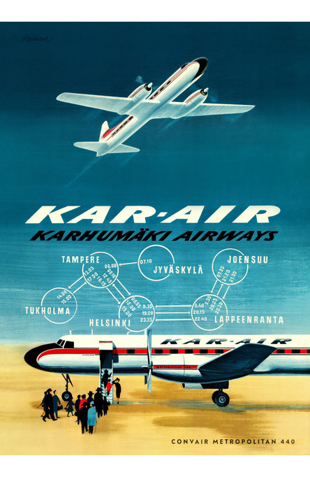 Kar-air by Erik Bruun, Poster 50 x 70 cm