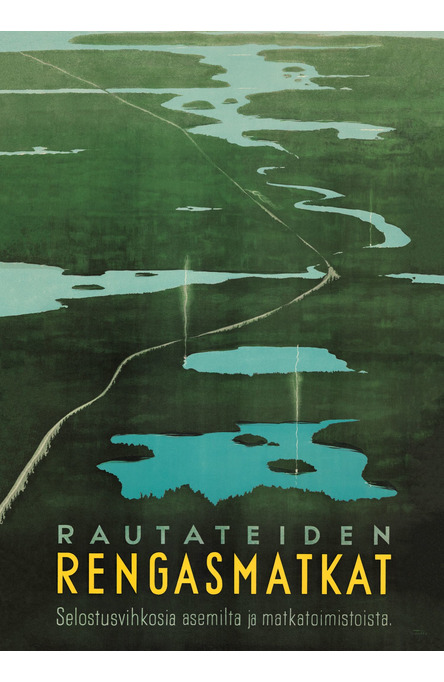 Rautateiden Rengasmatkat, Poster 50 x 70 cm (on demand print)