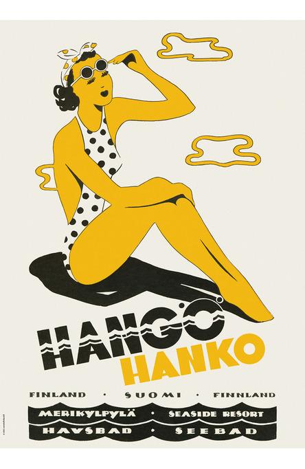 The Hanko Lady, Poster 50 x 70 cm (on demand print)