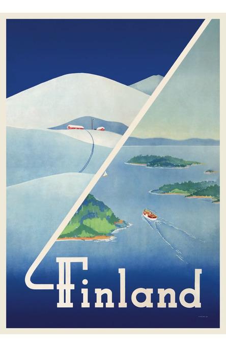 Finland: Winter-summer, Original size poster (on demand affisch)