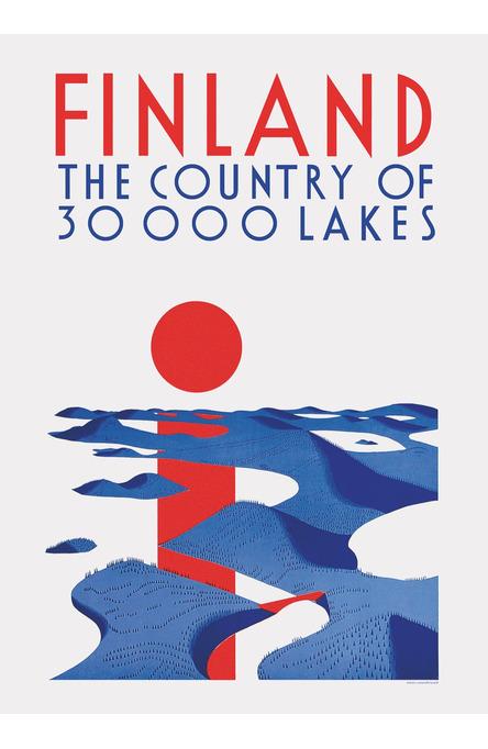 30 000 lakes, 50×70 poster