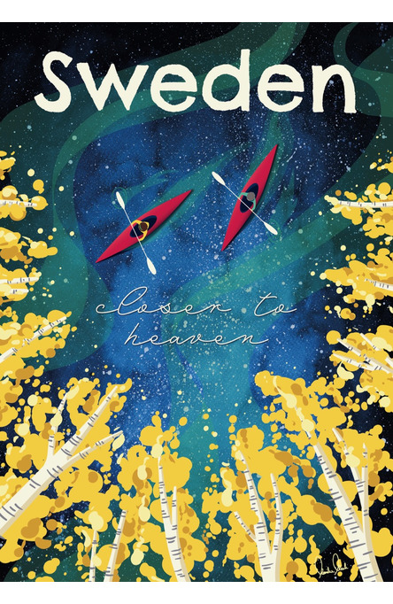 Sweden – closer to heaven by Mareike Mosch, Poster 50 x 70 cm