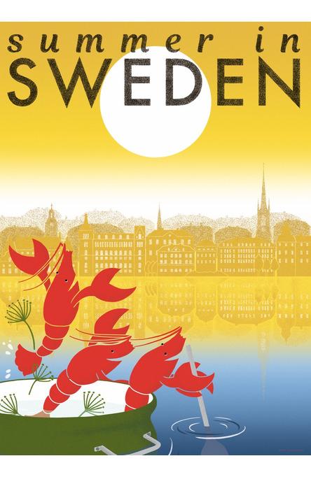 Summer in Sweden by Natsuki Nakamura, Poster 50 x 70 cm