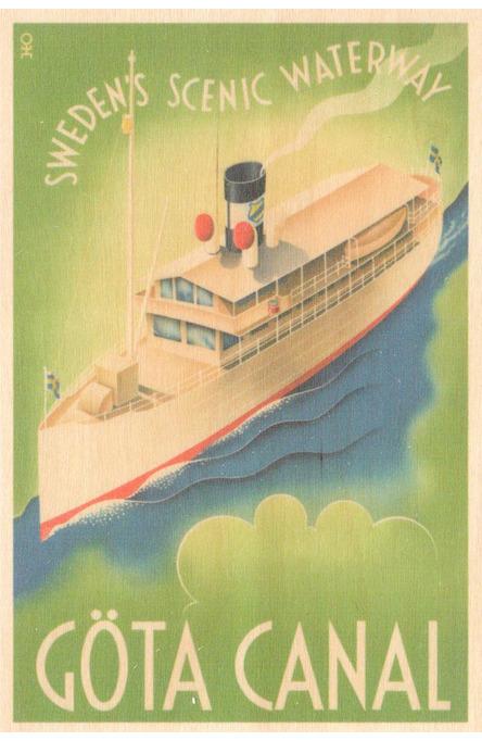 Göta Canal Waterway, Wooden postcard