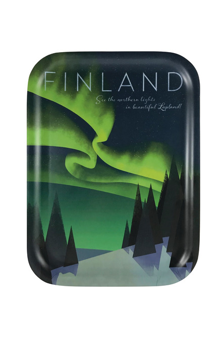Home of the Northern Lights, Tray 20 x 27 cm