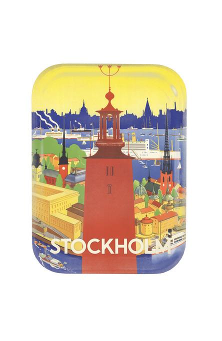 Donnér: Stadshuset i Stockholm, Bricka 20 x 27 cm