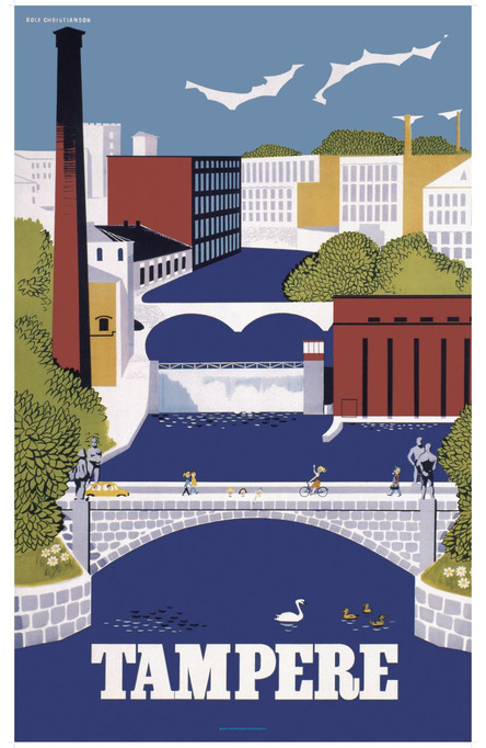 Tampere by Christianson, 70×100 poster
