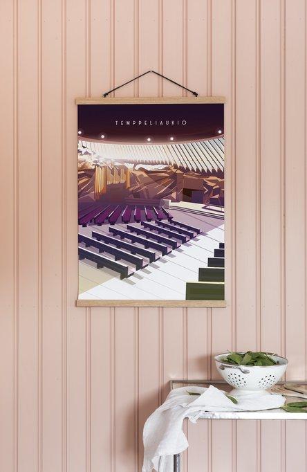 Temppeliaukio Church by Omar Escalante, Poster 50 x 70 cm (on demand print)