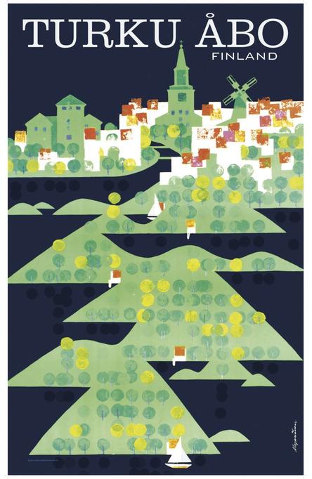 Turku-Åbo by Mykkänen, Original size poster