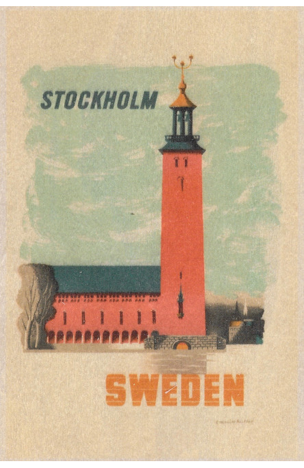 Kauffer: Stadshuset i Stockholm , Träkort