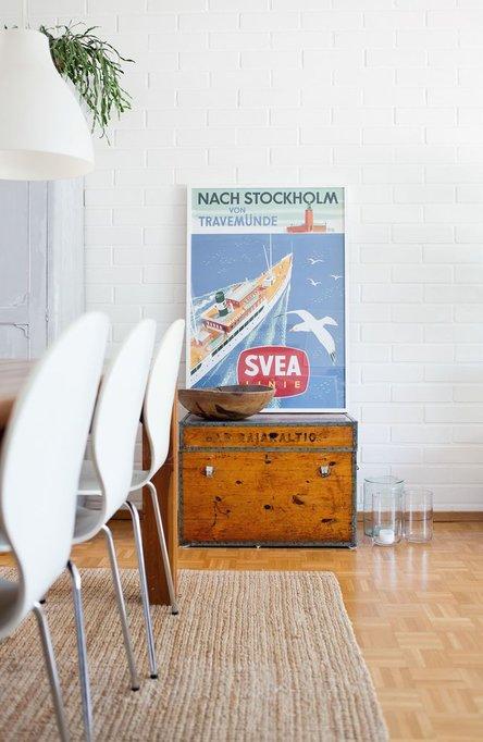 Nach Stockholm von Travemünde, Affisch 50 x 70cm