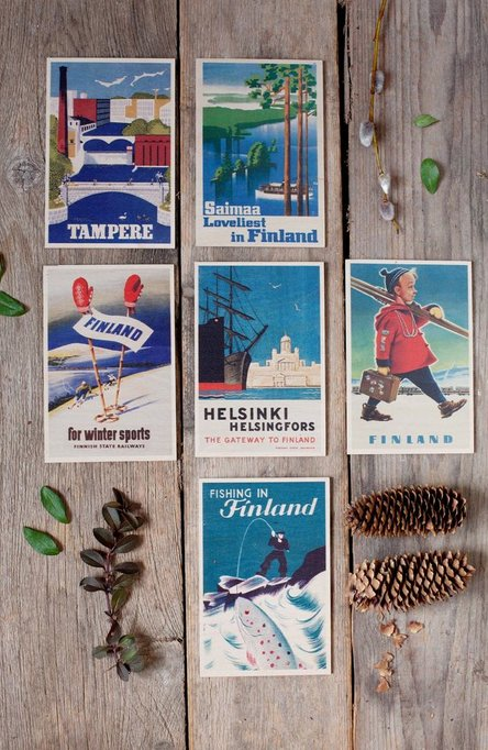 The Gateway to Finland, Wooden postcard